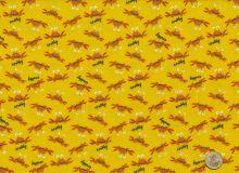 Free Spririt - Beach Crabs gelb -  Flanell