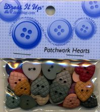 Dress it up Buttons - Patchwork Hearts