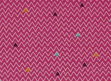Makower - Henna Zigzag in Pink