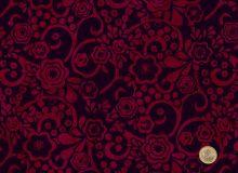 Hoffman Fabrics - Bali Handpaint - Blüten rot