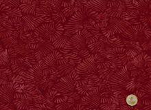 Patchworkstoff Hoffman Fabrics - Bali Handpaint - Fächer rot