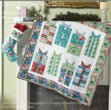 Joyful holiday quilt