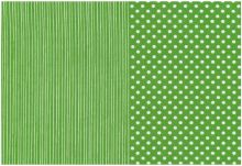 Stof A/S - Foxie Fox - Dots and Stripes - Green