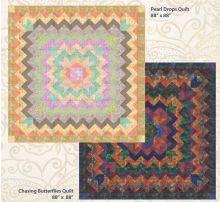 Pearl Drops  / Chasing Butterflies Batik by Mirah