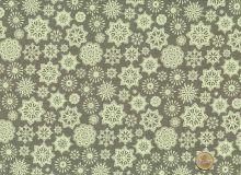 Makower - Skandi 2 - Snowflake taupe