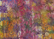 Island Batik - Blüten pink gelb
