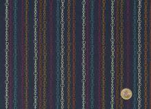 Makower - Deep blue - Radiance stripe