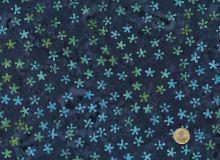 Island Batik - Blumen Türkis