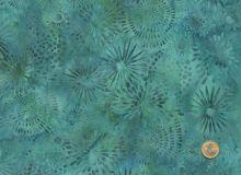 Island Batik - Blüten Türkis