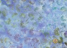 Island Batik - Leaves lightblue / purple