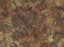 Patchworkstoff Hoffman Fabrics - Bali Handpaints - Blätter  Braun