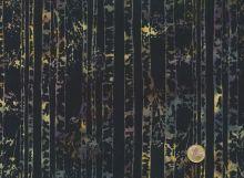 Patchworkstoff Hoffman Fabrics - Bali Handpaints - Birkenstämme schwarz