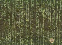 Patchworkstoff Hoffman Fabrics - Bali Handpaints - Birkenstämme Olivgrün