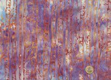 Patchworkstoff Hoffman Fabrics - Bali Handpaints - Birkenstämme Flieder