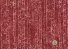 Patchworkstoff Hoffman Fabrics - Bali Handpaints - Birkenstämme Rotbraun