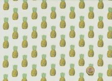 Makower  -  Fern Garden Pineapple Beige