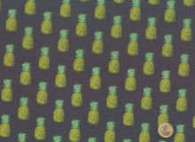 Makower - Fern Garden Pineapples grey