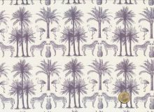 Makower  -  Fern Garden Palm Grey