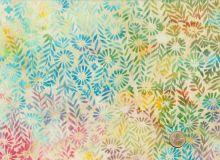 Island Batik - Blüten Creme