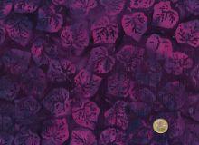 Island Batik - Blätter Lila