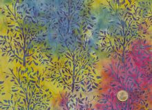 Island Batik - Zweige Gelb rot