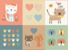 Makower - Panel - Cool Cats