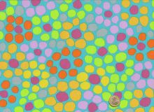 Brandon Mably - Flower Dot - Aqua