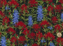 Fabri Quilt - State Flowers - Rot Blau