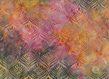 Island Batik - Blätter - Grün
